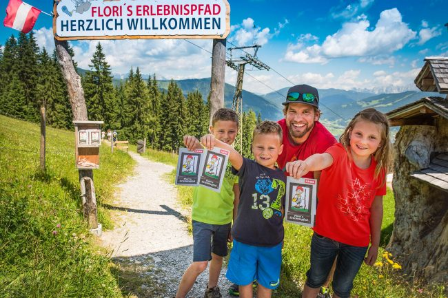 Familie im Sommerurlaub in Flachau - Appartements Atempause