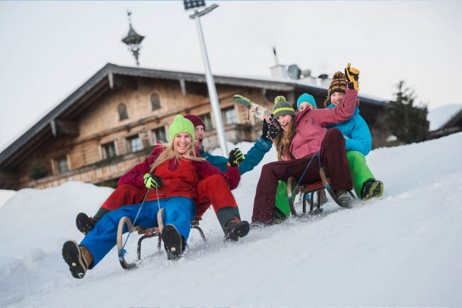 Rodeln im Winterurlaub Flachau - Appartements Atempause