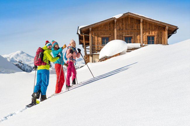 Schneeschuhwandern im Winterurlaub Flachau - Appartements Atempause